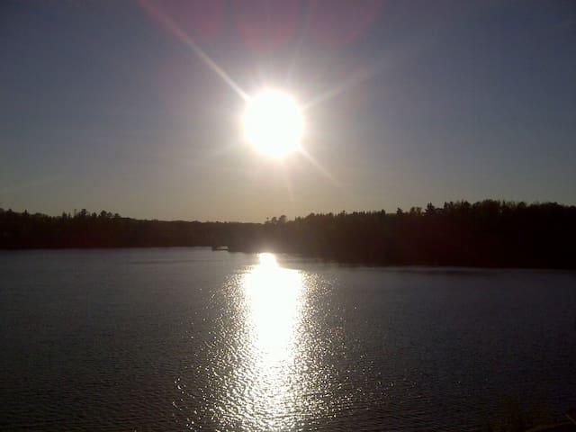 Lover's paradise Blue Sea Lake, Messines, Quebec