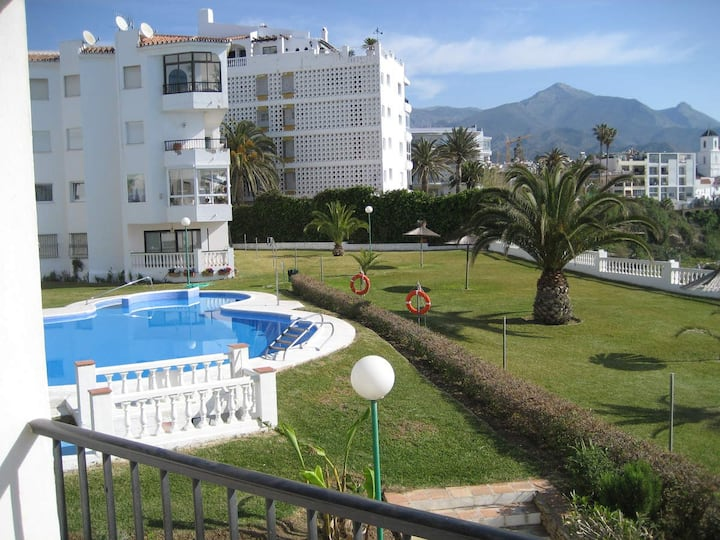 Las Palmeras, Apt. 1 dor. Pool, Sea view