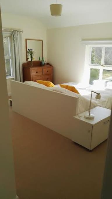 Super King Size Room en suite also available with the river on 3 sides.