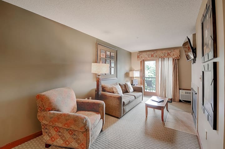 A207- One bedroom suite, has a private balcony to enjoy views of the lake!