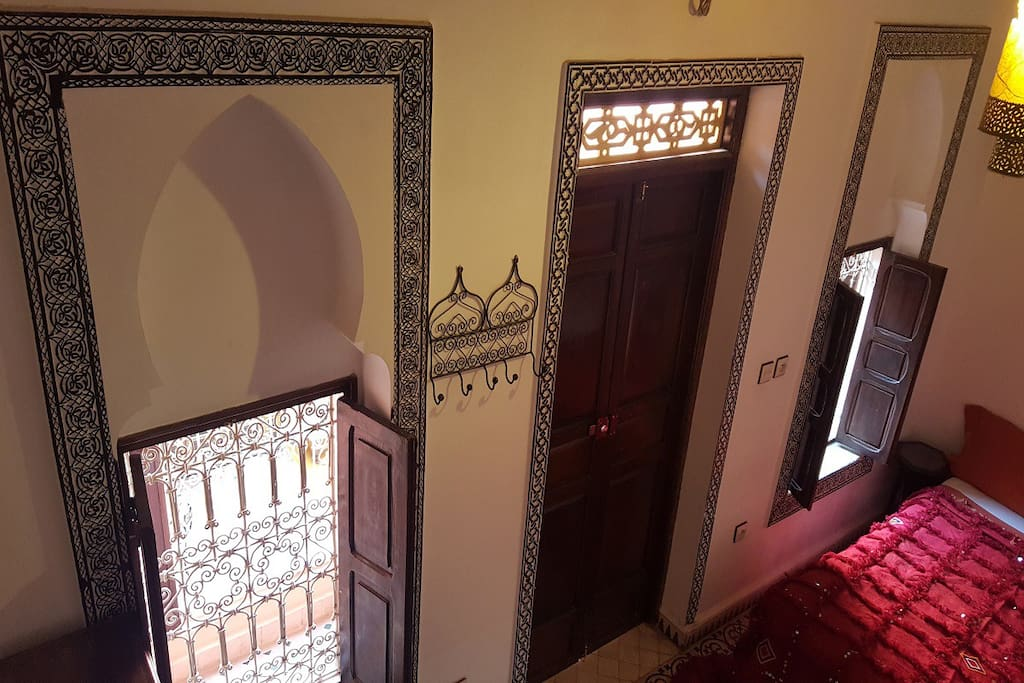Room overview with traditional morocoan decoration