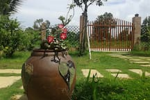 Spring Garden Homestay is situated in the green garden with variety of trees and flowers.