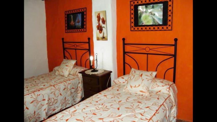 Dormitorio planta baja,con dos camas individuales.