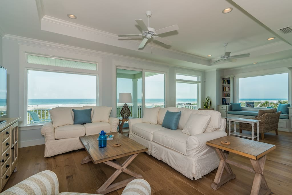 Oceanfront Sleeps 14 5 Master King Suites Pool Houses For Rent In Saint Augustine Florida
