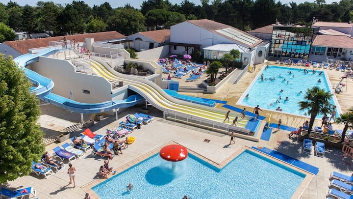 Mobile home 8pers, 42m2, 3 chambres camping 4*