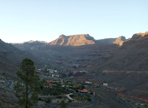 Little house mountain in the south of Gran Canaria