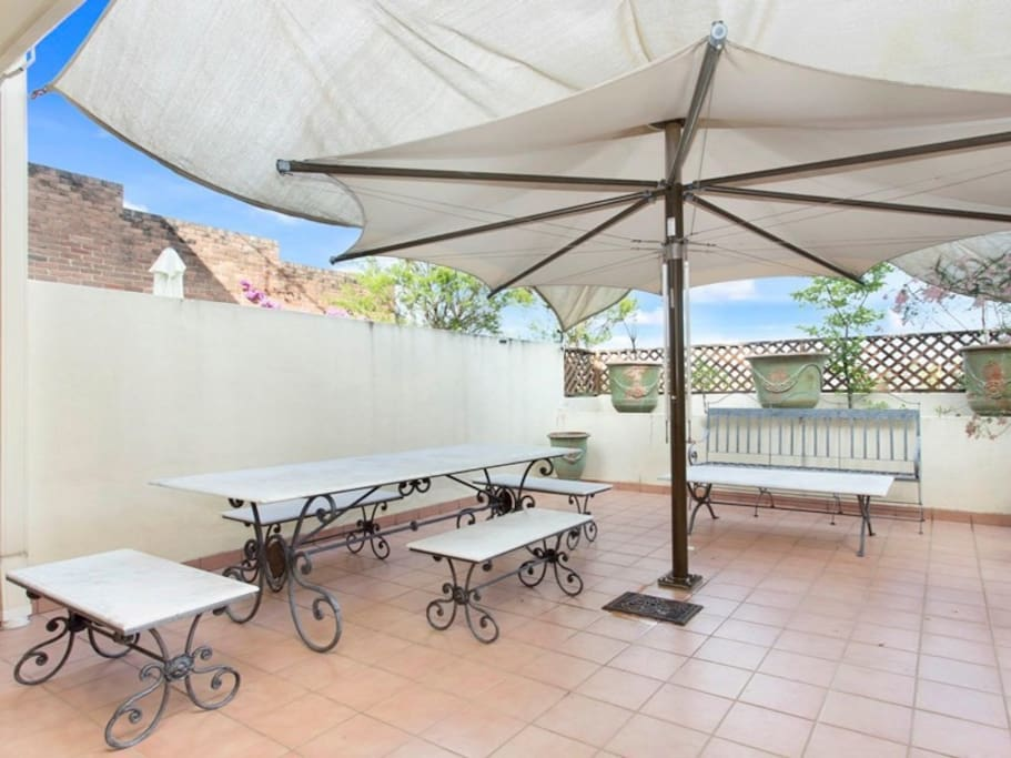 Gorgeous al-fresco patio dining area (belongs to house, not shared with other properties)