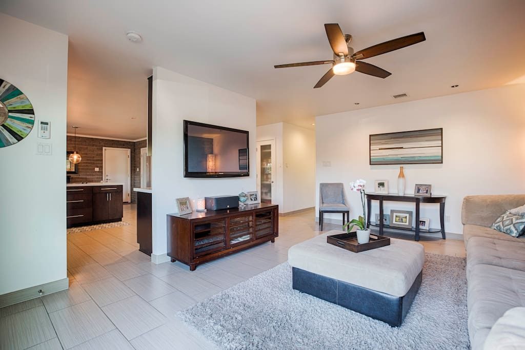 """Family room - 55"""" TV with cable"""