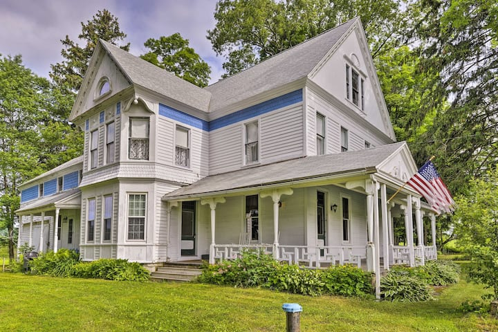 Giant Victorian Home Near Cooperstown w/Fire Pit!
