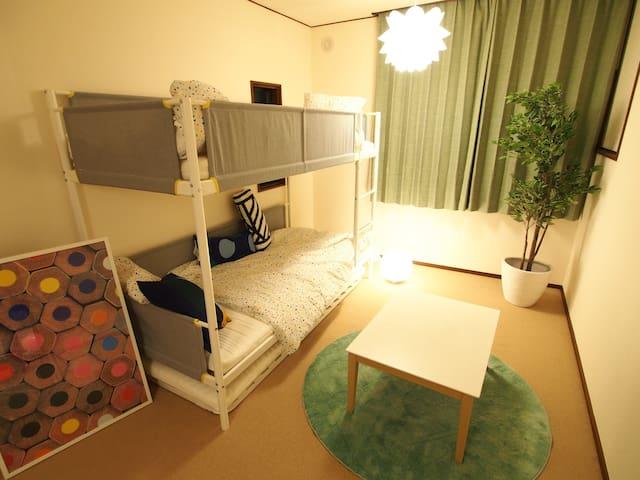 room2 = 3 bed room
