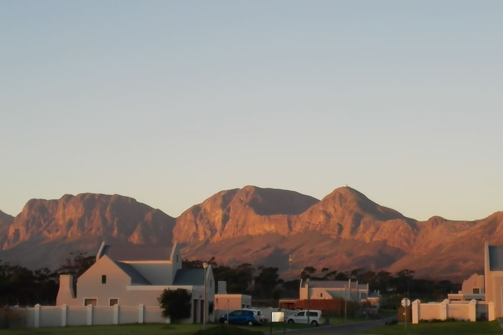 Our home is surrounded by the Helderberg mountains