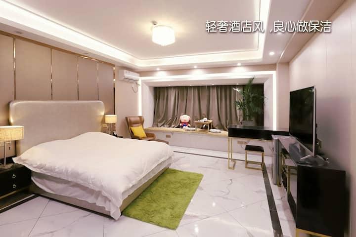 特惠/市府边/万通红宝石/轻奢宽敞消毒/独袋弹簧床垫超舒适大床房