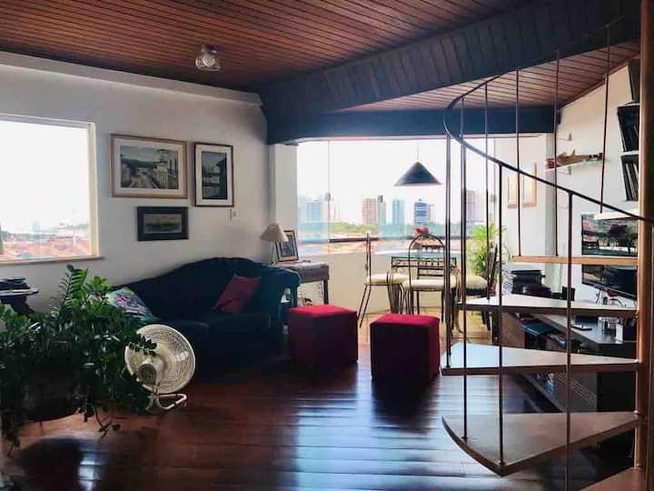 Cobertura aconchegante Comfortable apartment