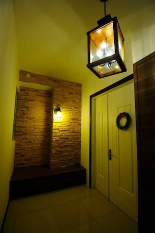 Warm and inviting private entrance