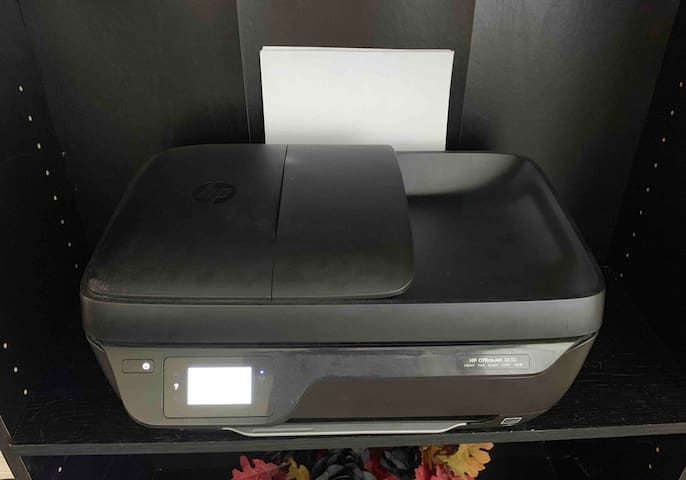 A wireless printer (with paper) are available for guest use, should documents/tickets need to be printed/scanned.