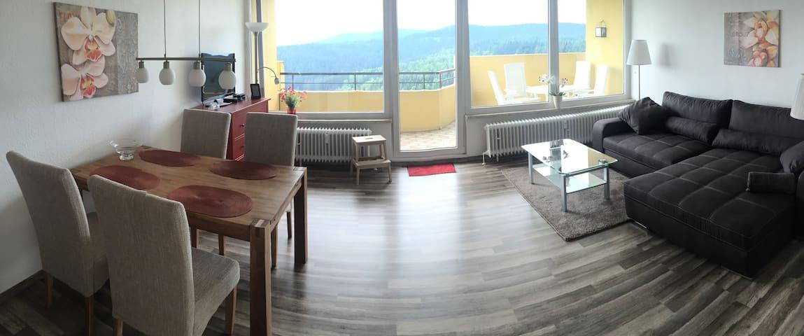 Fernblick Braunlage 15. Etage Hallenbad 49qm - Braunlage - Condominium