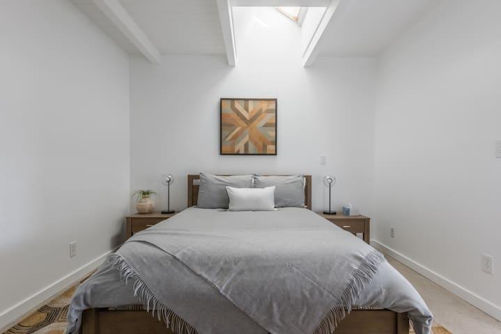 Den with queen bed