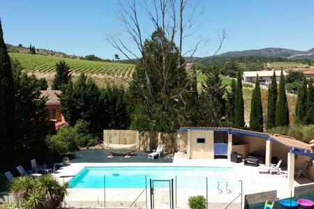 Occitanie propriété pour 8-10 pers grande piscine