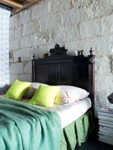 Les Volets Verts - Chambre côté jardin - Écueillé