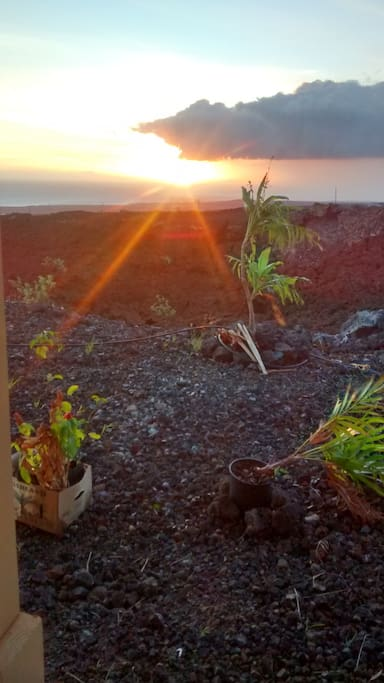 Enjoy spectacular views and sunsets from lanai and bedroom.