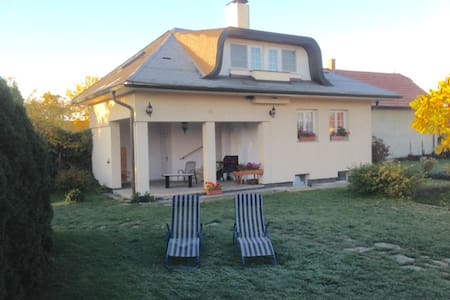 Cosy weekend house with covered terrace and garden - Vrbová Lhota