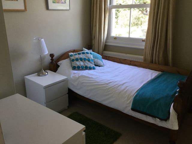 Bright, garden view single room - Wimbledon Park