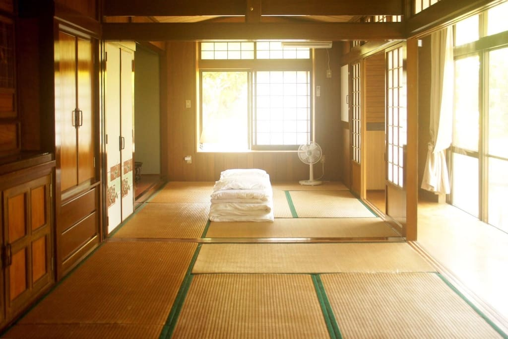 Japanese style bedroom.