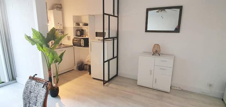 Studio cabine 24 m2,4pers: cosy, douillet et calme