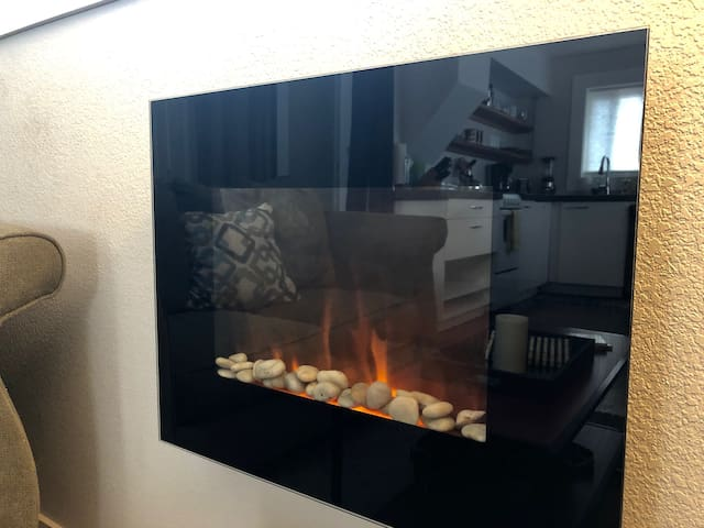 Electric fireplace for cozy evenings