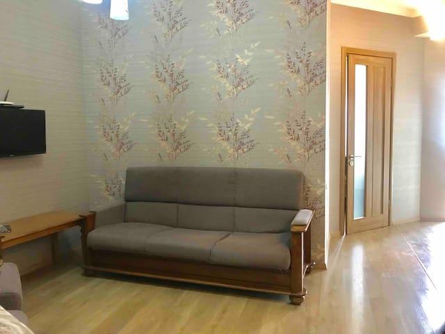 Sunny's Cozy Apartment at Saburtalo/Tbilisi