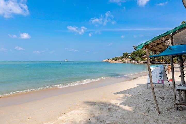 天堂别墅-海景泳池+烧烤亭阁+步行至海滩+漂浮早餐