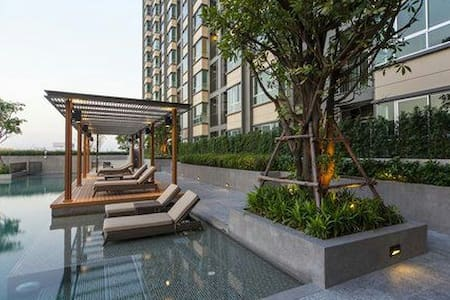 Cozy private 1b Near sky train - Bangkok - Apartment