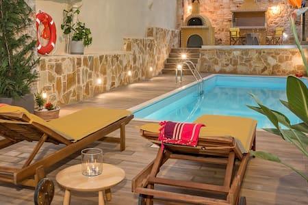 Villa Armonia  in Drakona with Splendid View