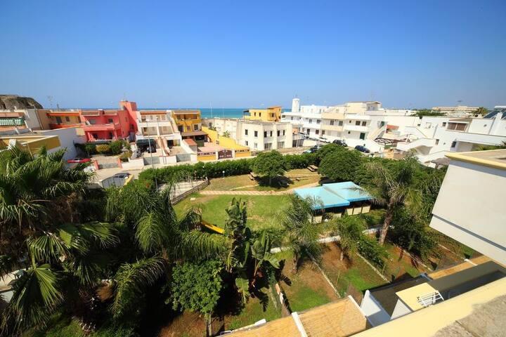 Appartamento 3 posti a 100 metri dalla spiaggia.