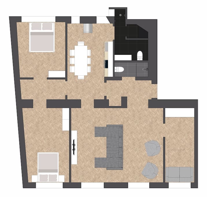 general plan of the apartment