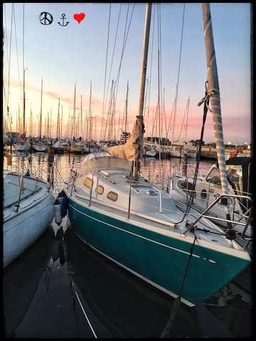 Hyggelig sejlbåd centralt i KBH
