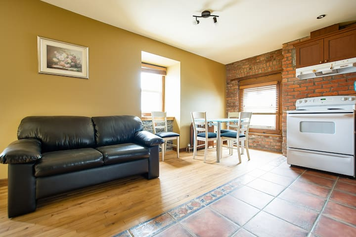 Charming & comfy 1-bedroom flat in Old Québec