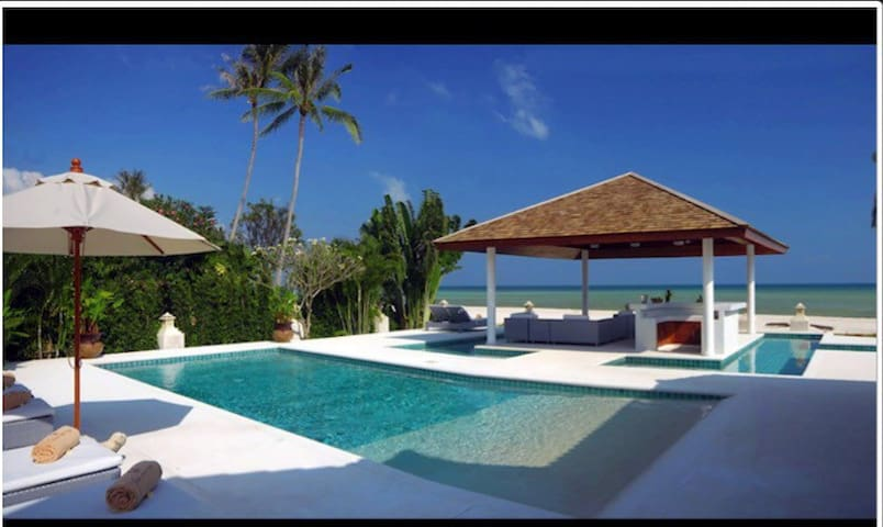 Stunning Beachfront Villa - Ko Samui - Hus