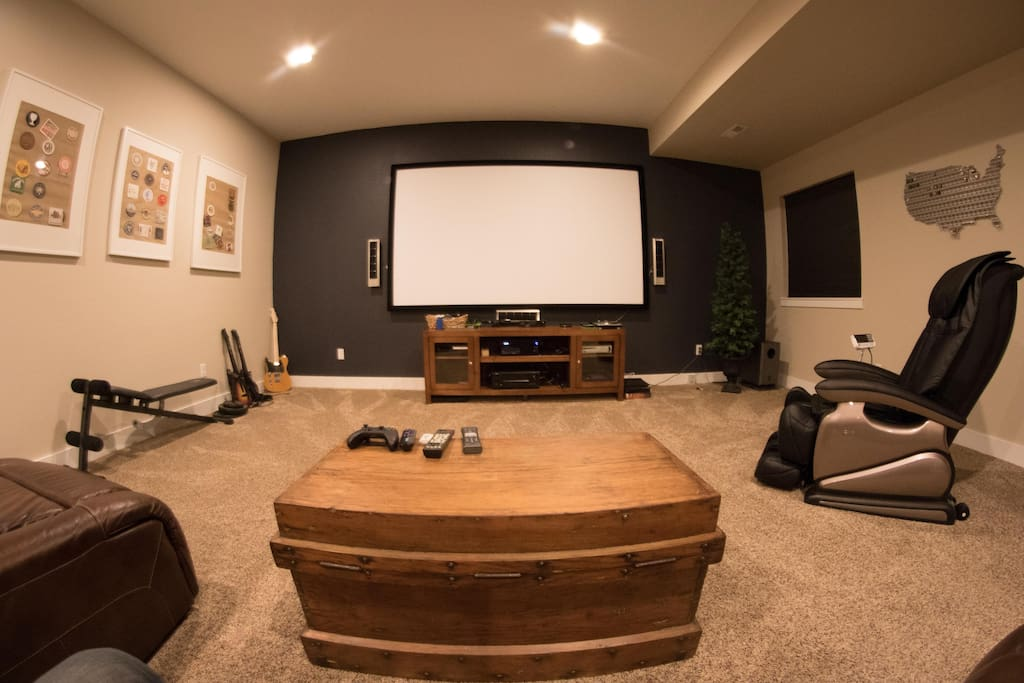 Hang out in the theater room!