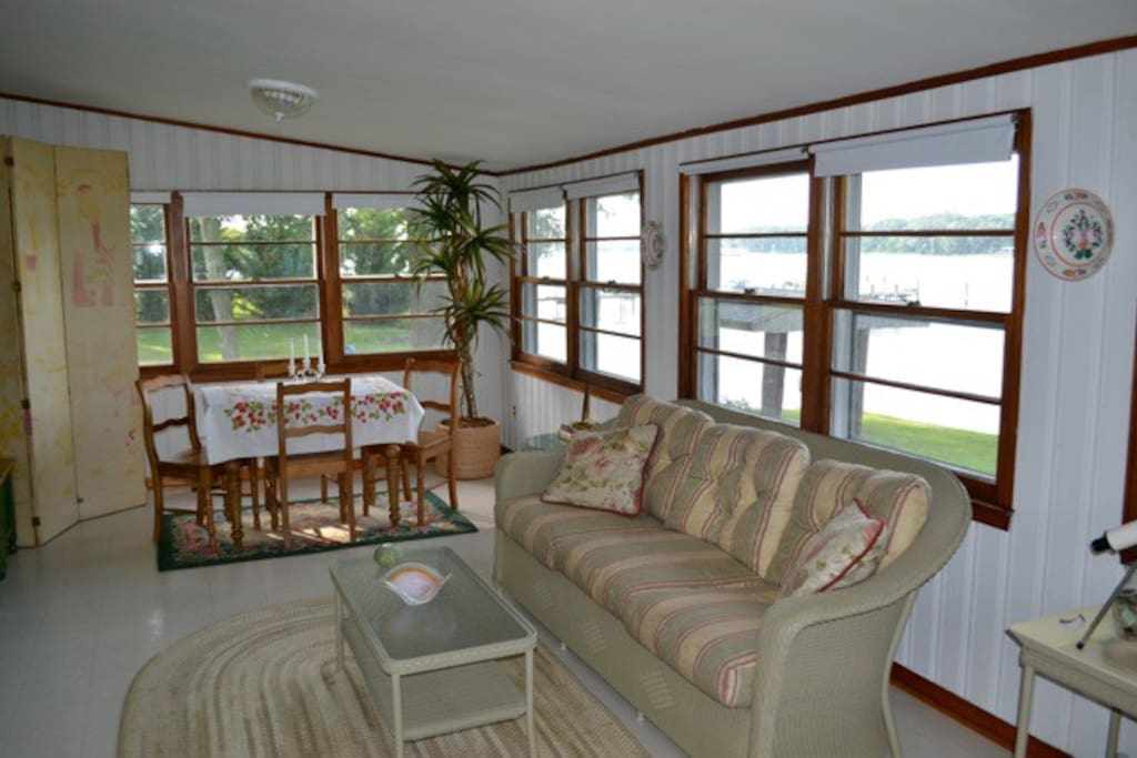 A front room, windowed throughout, with exceptional views of the Creek and out to the Potomac.