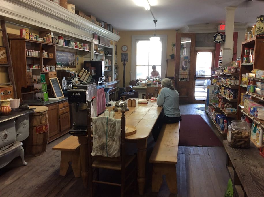 Have breakfast or lunch at the General Store, only steps away.  You can walk to it!