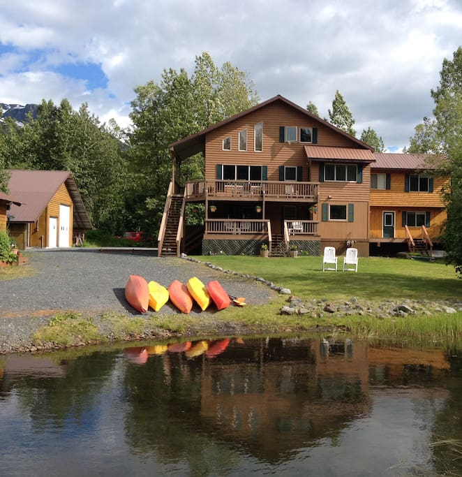 Large home with LAKESIDE setting.  Kayaks for your use!