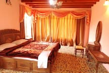 Master bedroom with two double beds