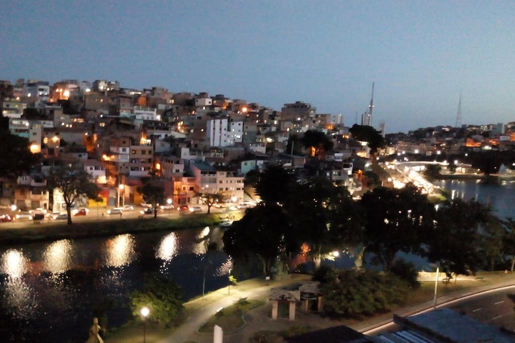 Vista para o dique do Tororó