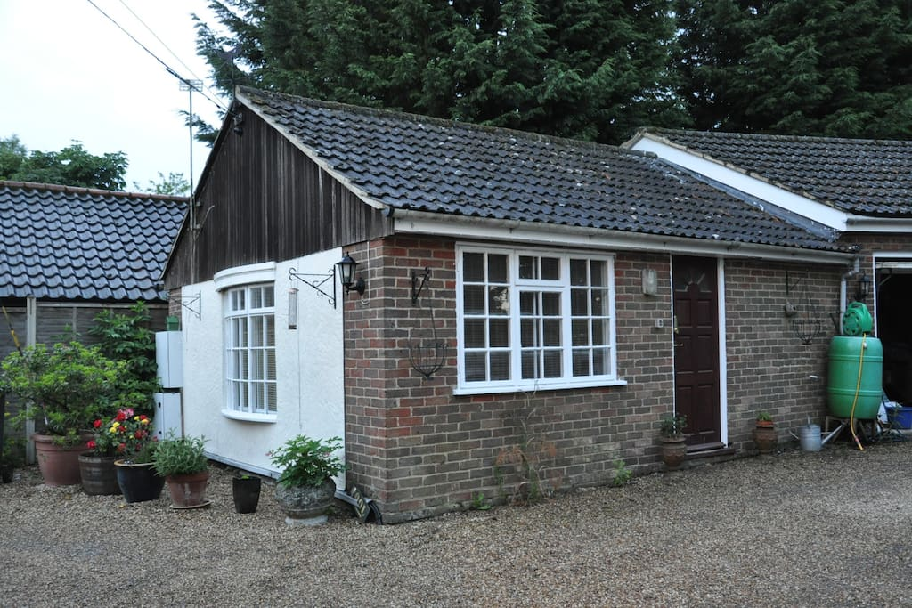 The studio, viewed from outside