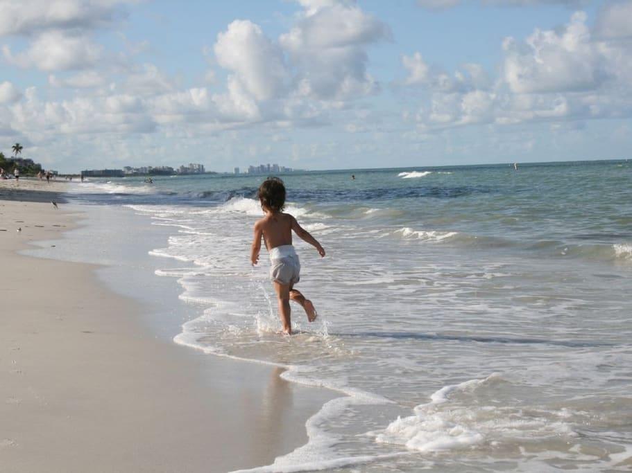 Miles of pristine beach