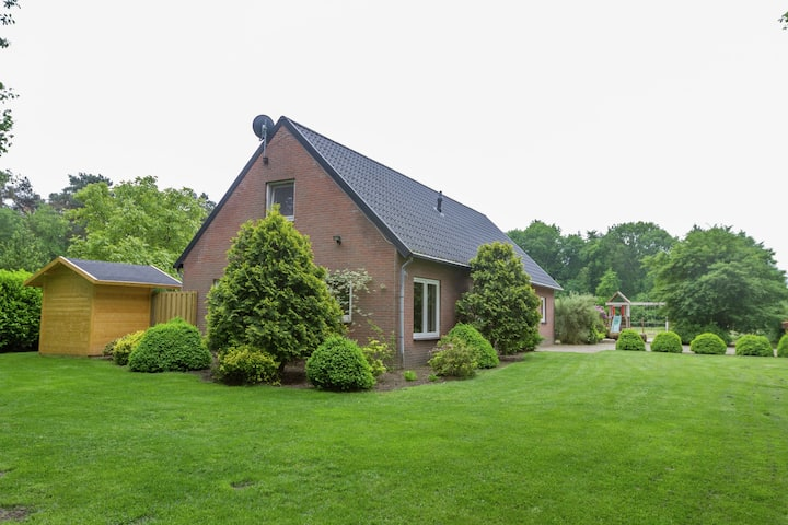 Holiday home in a rural location in Vessem, North Brabant, with sauna and hot tub
