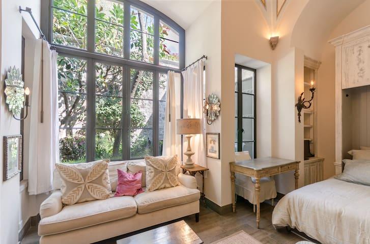 Guest Room Window to Garden