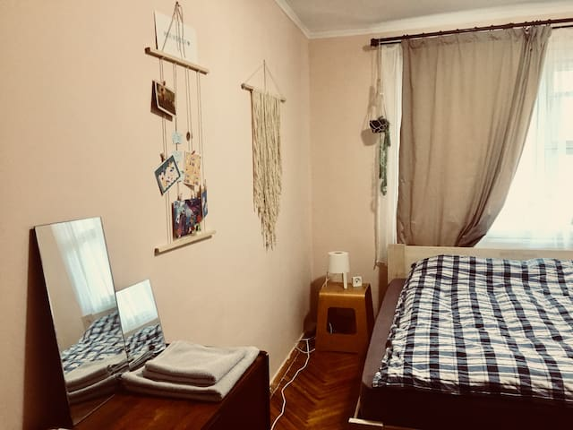 Simple cozy room in lovely apartment