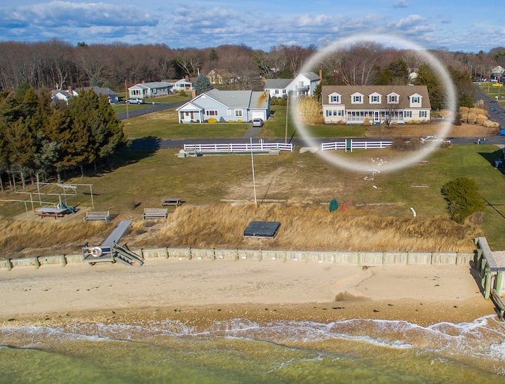 North Fork Long Island Beach Front 5 bedroom